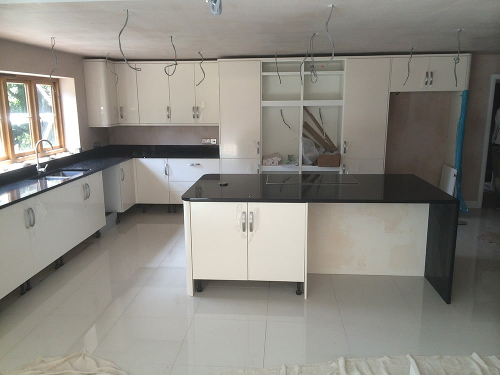 Change of Style installing a kitchen